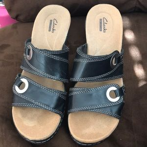 Clark's summer sandal with leather straps